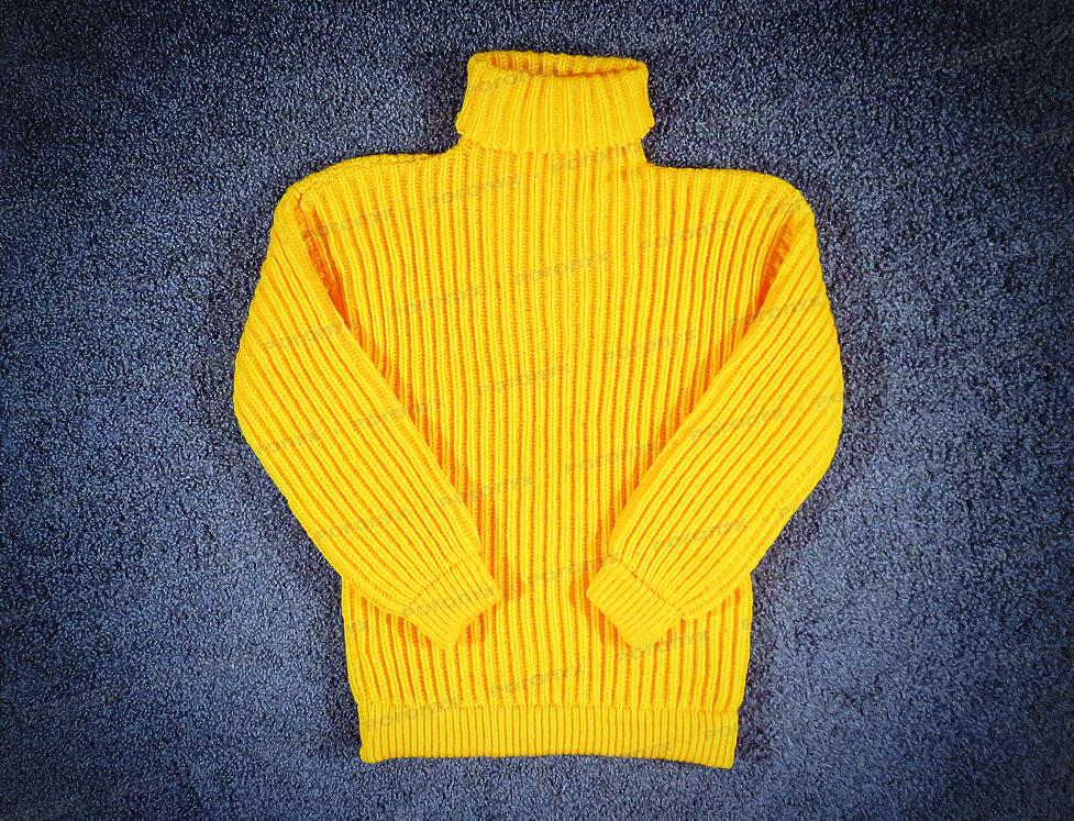 свитер вязаный желтый 644